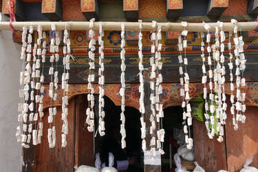 Traditional Shop in Bhutan by Syltorian