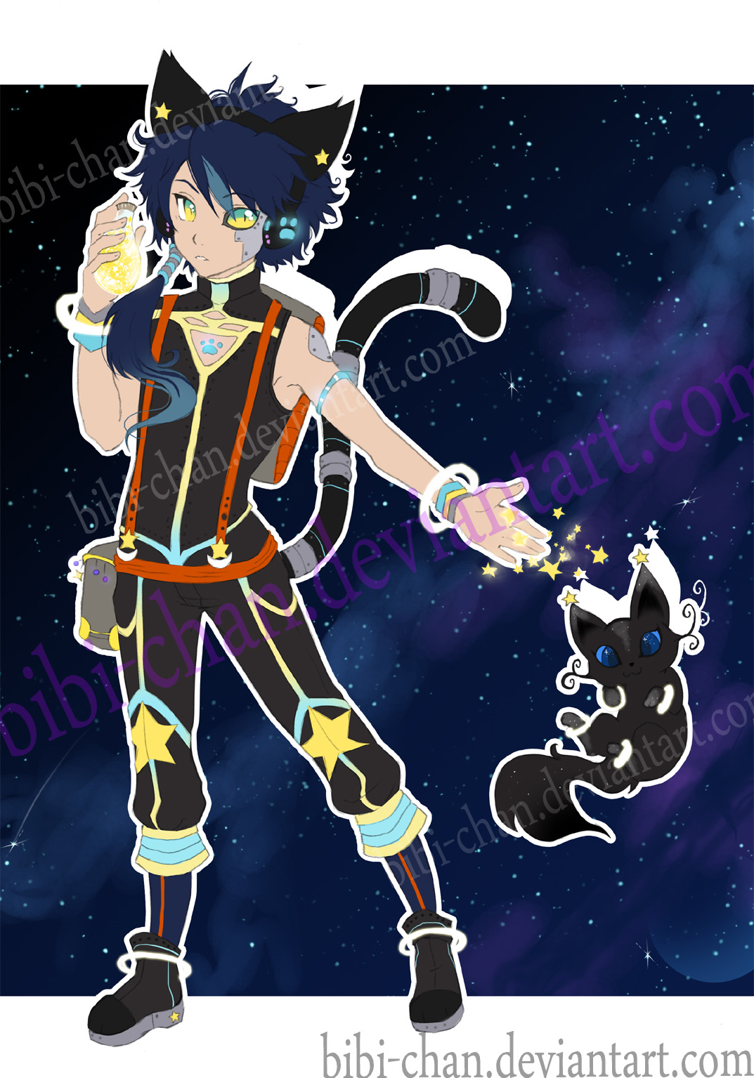 Adoptable OuterSpace Cat :SOLD: by bibi-chan