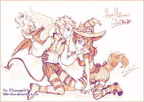 Sketch commission : Halloween lovers