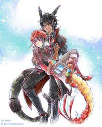 Commission :: Seera x Kaido by bibi-chan