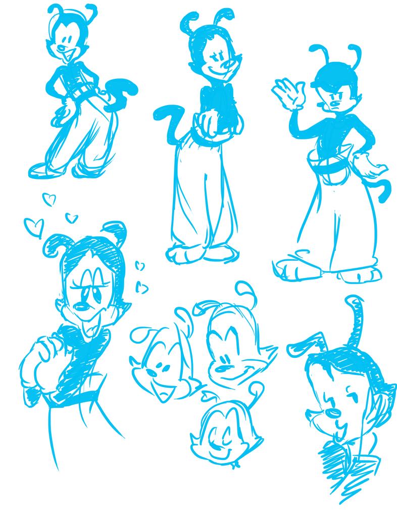 Yakko Warner Doodles by MightyDork