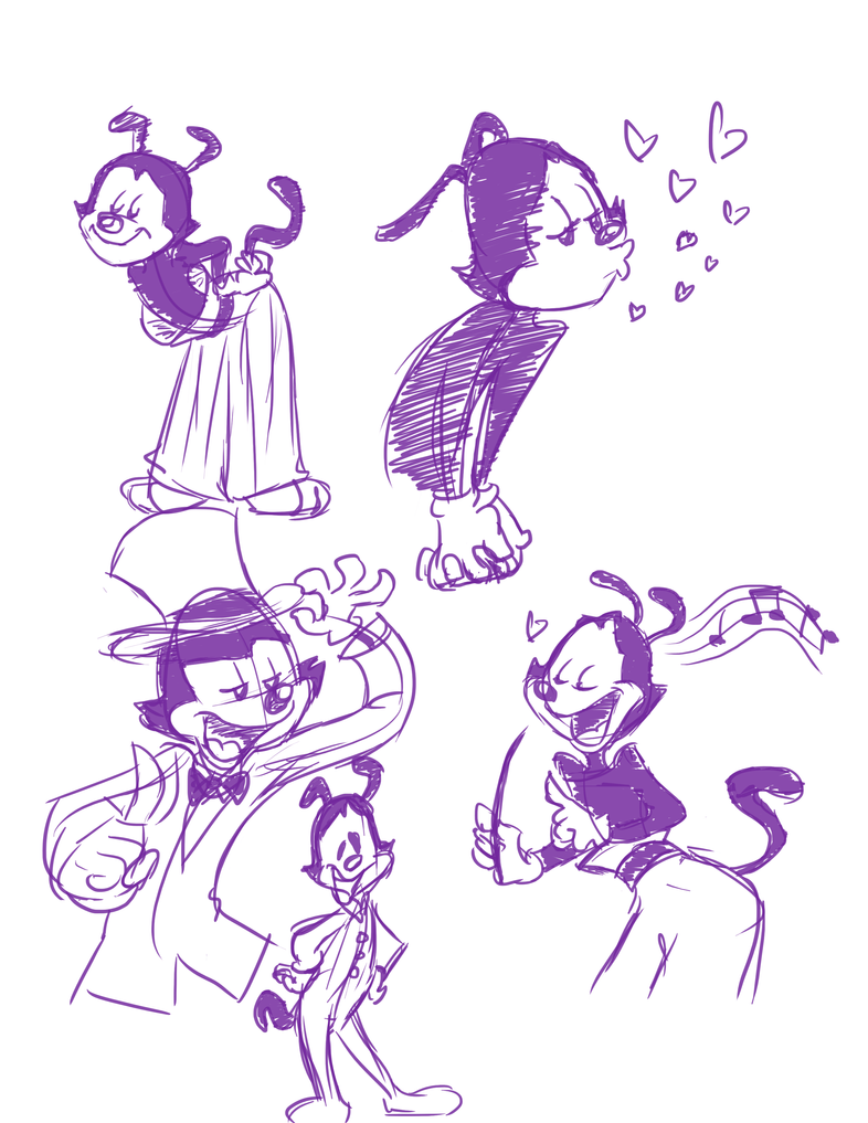 More Yakko Doodles by MightyDork