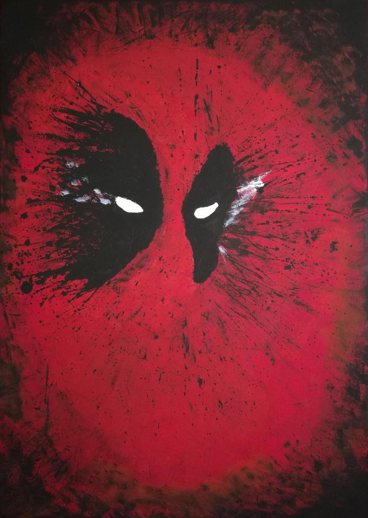 Deadpool - Acrylic fanart by Silver-Flash