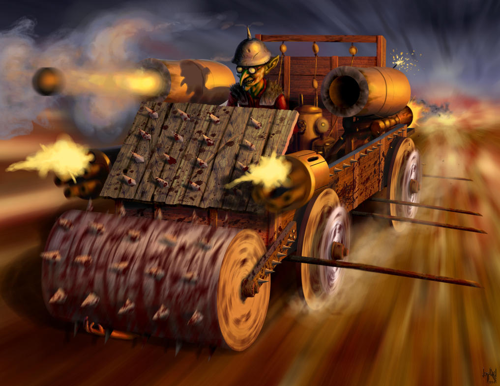 Goblin War Wagon by HarryBuddhaPalm