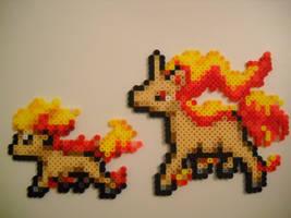 Ponyta and Rapidash (Updated) by RetroNinNin