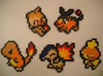 Fire Type Pokemon Starters Gen I through V