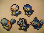 Water Type Pokemon Starters Gen I through V