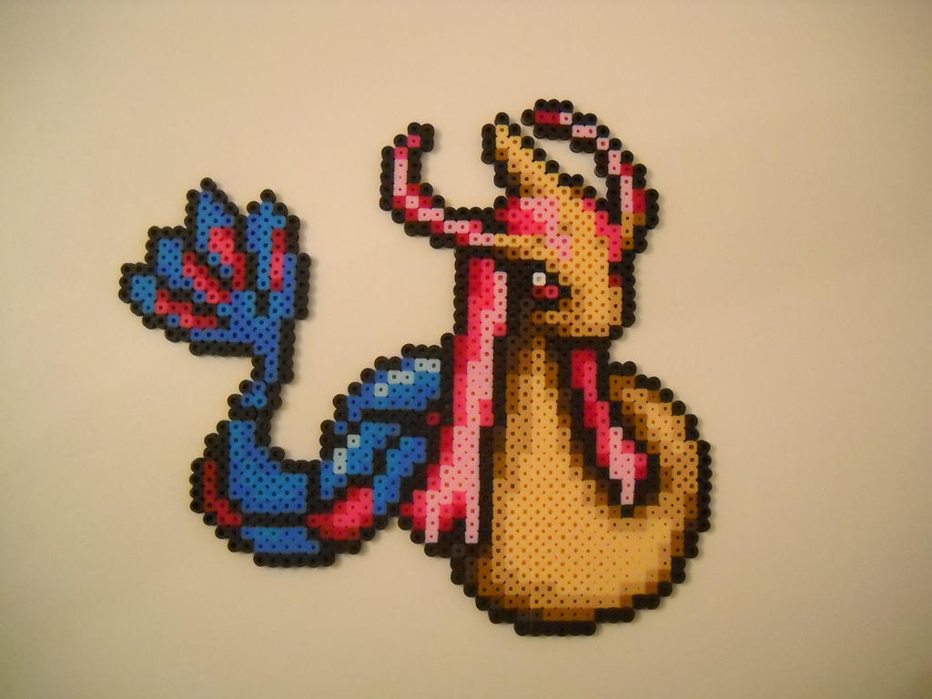 Perler Bead Milotic Beautiful