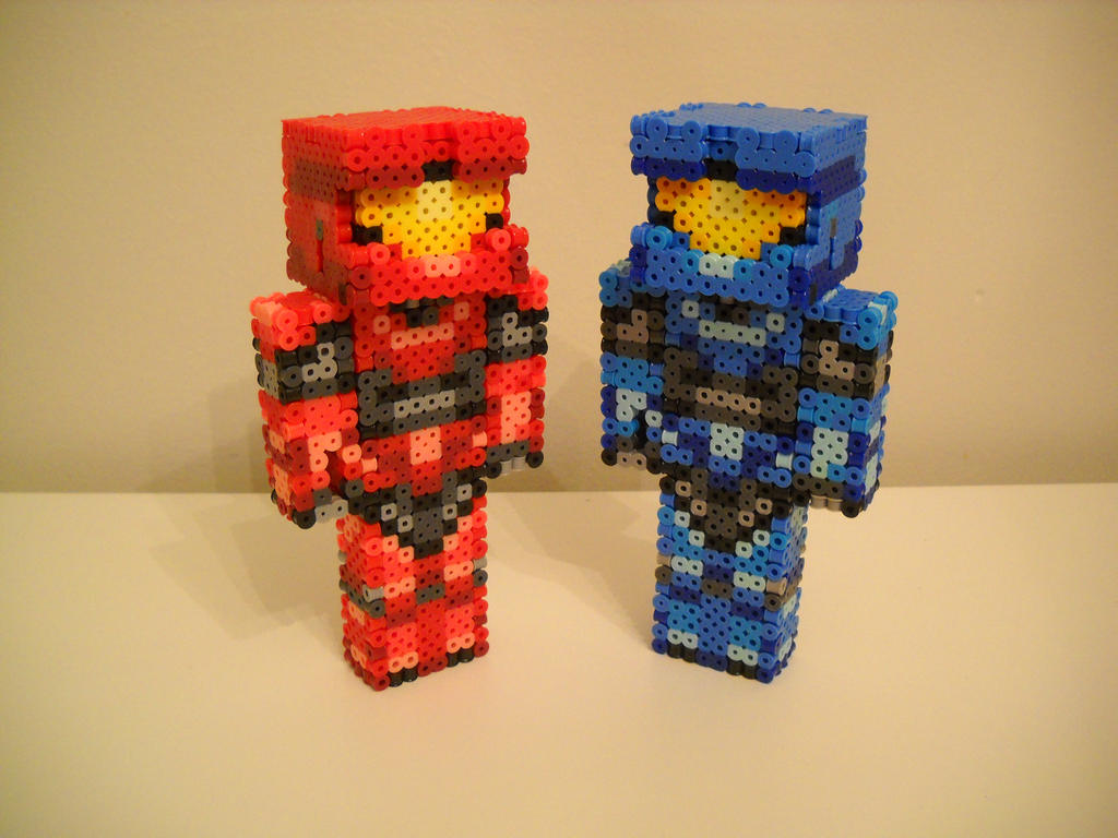 red vs blue minecraft by retroninnin on deviantart