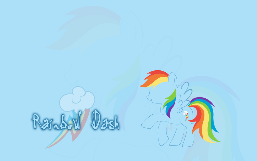 MLP: Rainbow Dash Wallpaper by godoflight