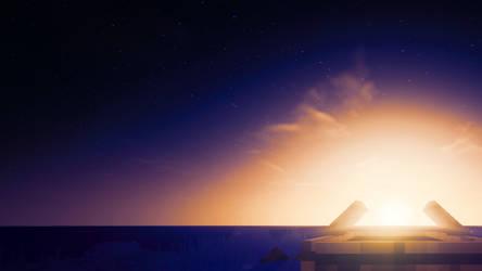 Minecraft Sunset by DarkIceFTW
