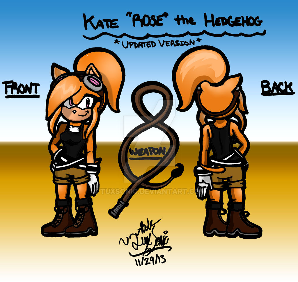 Kate The Hedgehog S Biography Old Version By Tuxsonic On Deviantart