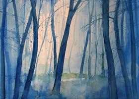 Nel bosco by andreuccettiart