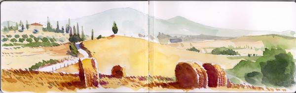 Tuscany on Moleskine 5