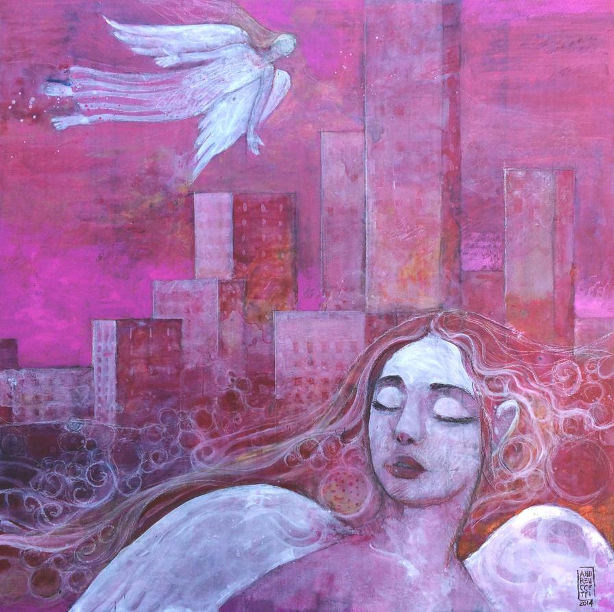 Angels between us by andreuccettiart
