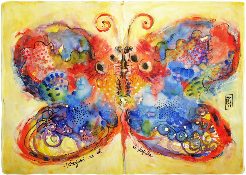 Astrazioni su ali di farfalla by andreuccettiart