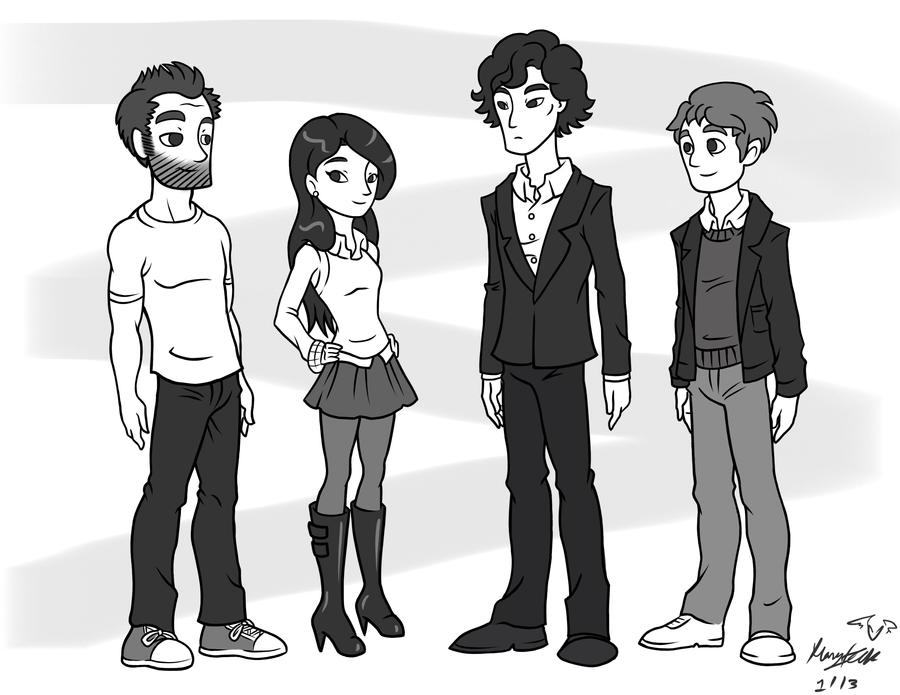Elementary/Sherlock Team by maryfgr23