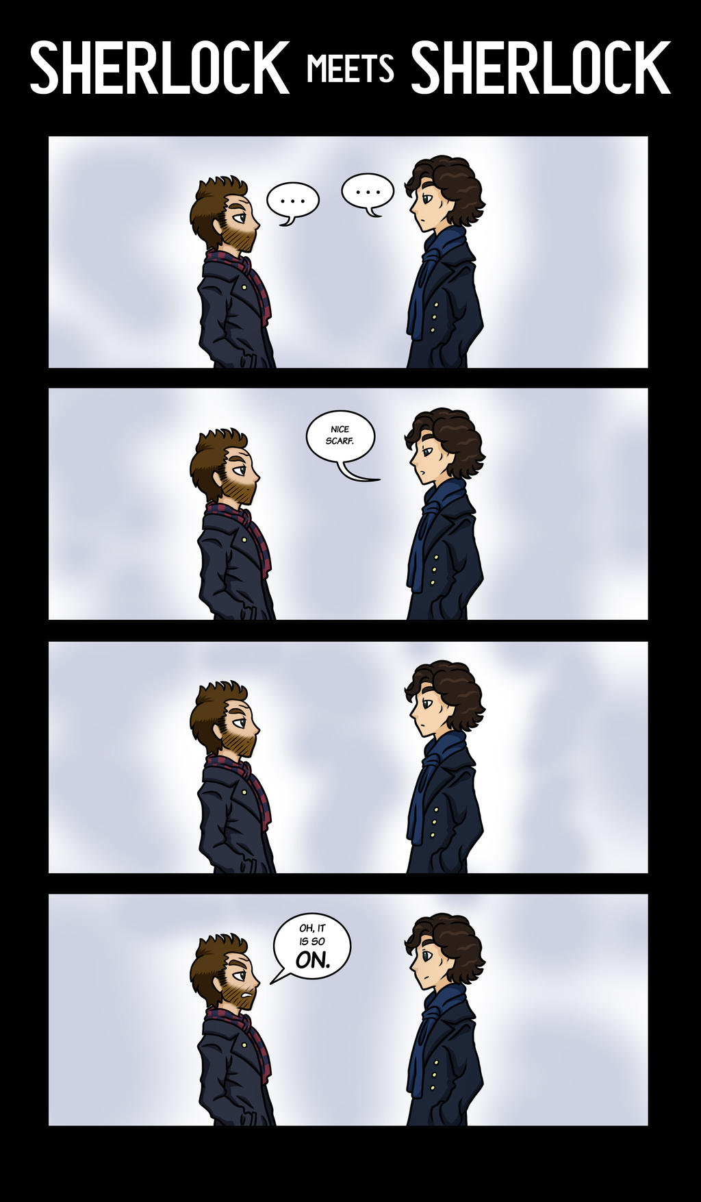 Sherlock meets Sherlock by maryfgr23