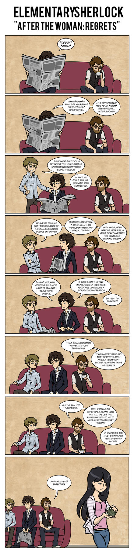 Elementary/Sherlock: After the Woman-Regrets by maryfgr23