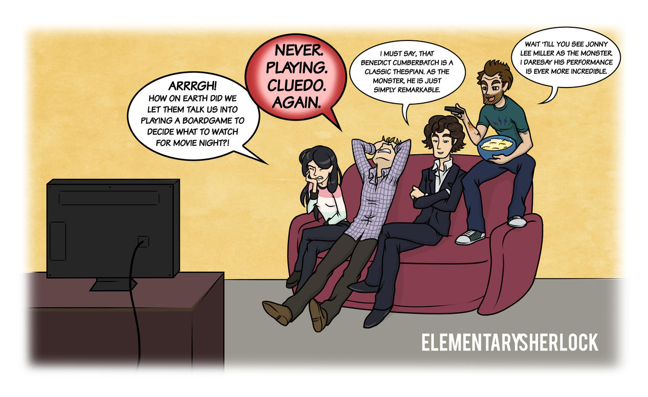 Elementary/Sherlock: Movie Night by maryfgr23