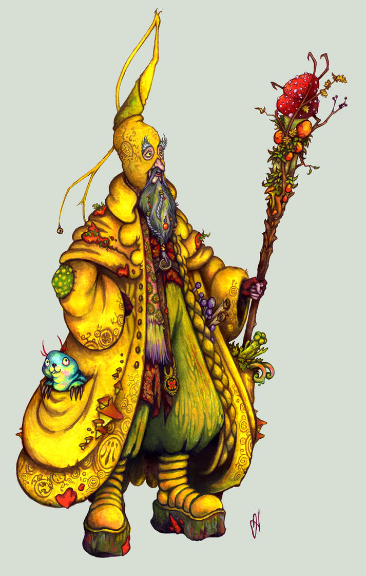 Abimelech the Yellow Druid by Weatherduck