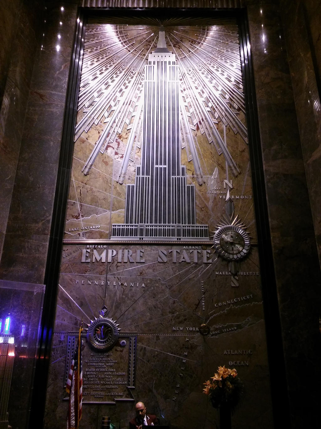 Empire state building lobby mural 3 by shadow dragon 777 for Empire state building mural