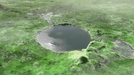Terraformed Mars Jezero Crater