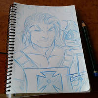 Toni Gutierrez Art He-Man Sketch by Lion542