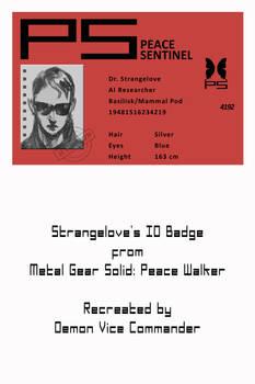 Strangelove's ID Badge