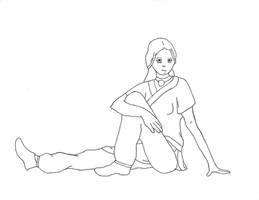 Katara Drawing by LucidFusion