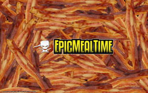 Epic Meal Time Bacon Wallpaper by LucidFusion