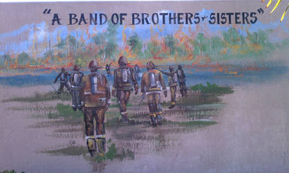 Firefighting Mural by LucidFusion