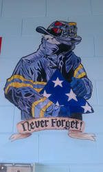 Sept 11 'Never Forget' Painting