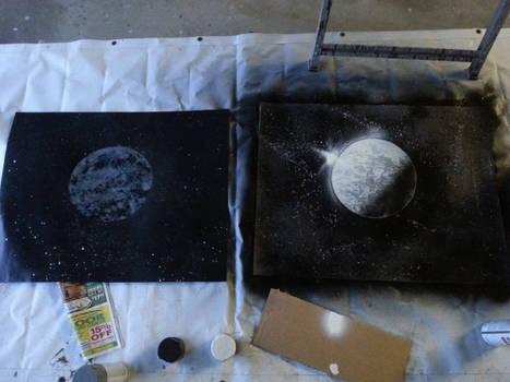Spray Paint Moon