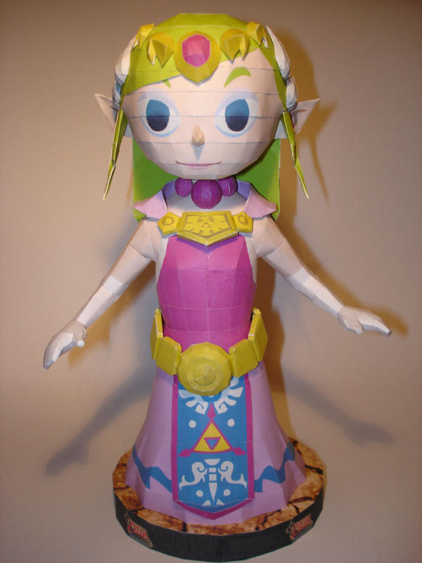 Princess Zelda Papercraft by Skele-kitty