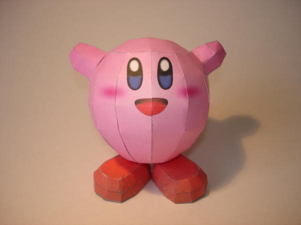 Kirby Papercraft by Skele-kitty