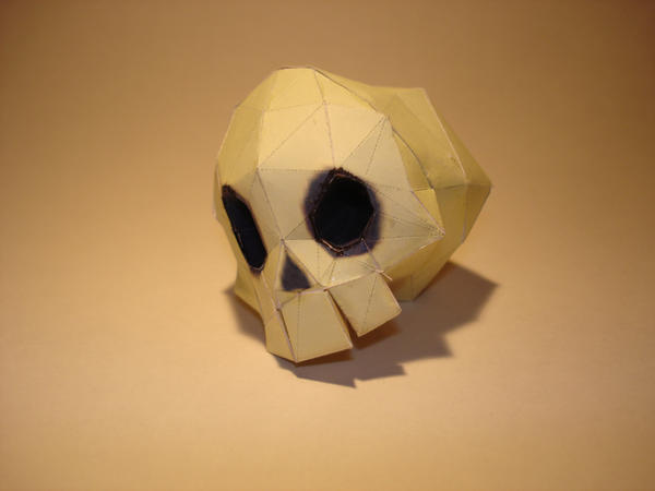 Dungeon Skull Papercraft by Skele-kitty