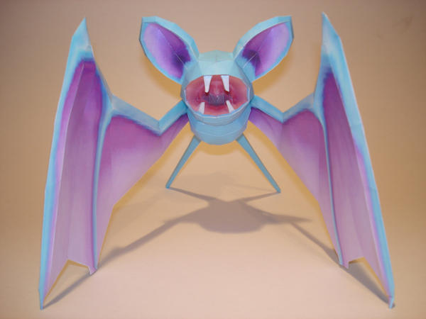 Zubat Papercraft by Skele-kitty