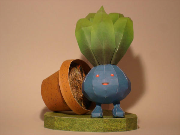 Oddish Papercraft by Skele-kitty