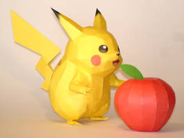 Pikachu Papercraft by Skele-kitty