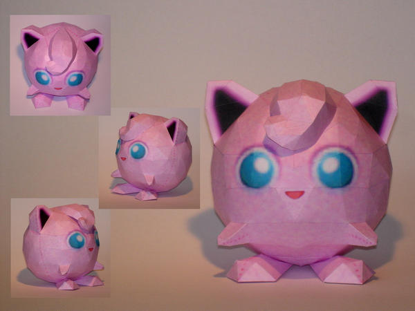 JigglyPuff PokeDoll Papercraft by Skele-kitty