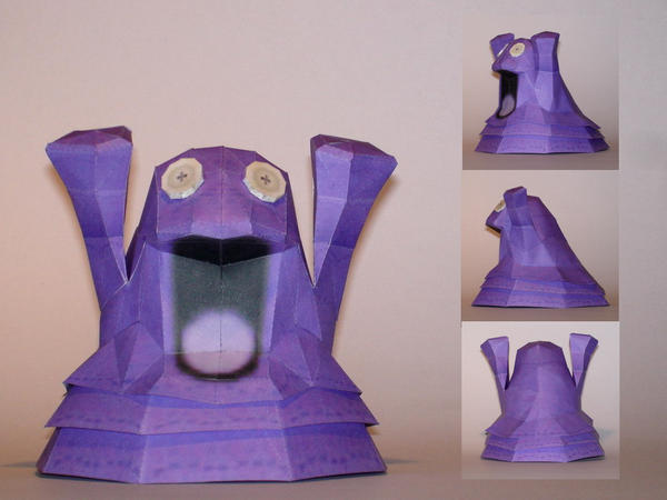 Grimer Doll Papercraft by Skele-kitty