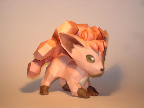 Vulpix Papercraft by Skele-kitty