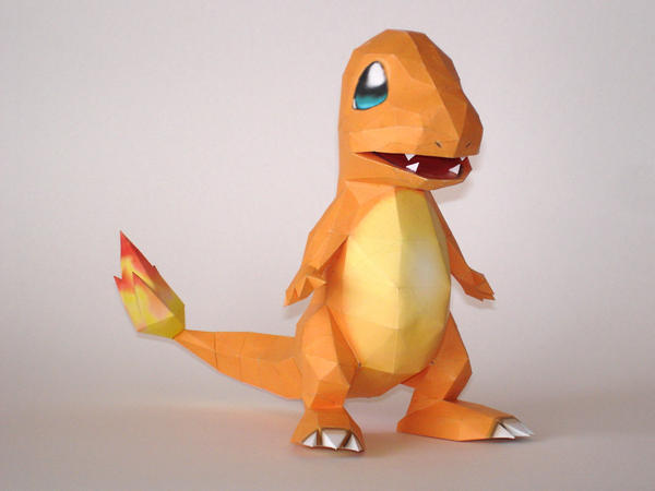 Charmander Papercraft By Skele Kitty