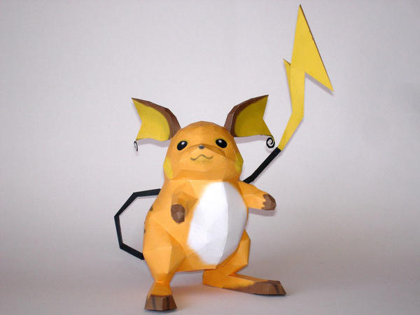 Raichu Papercraft by Skele-kitty