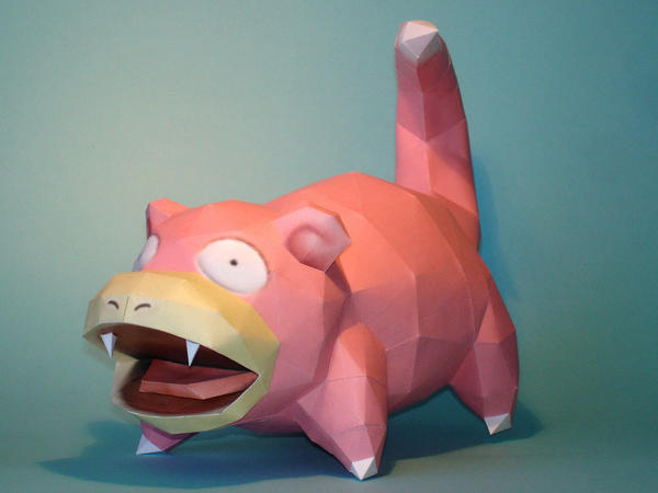 Slowpoke Papercraft by Skele-kitty