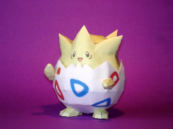Togepi Papercraft by Skele-kitty
