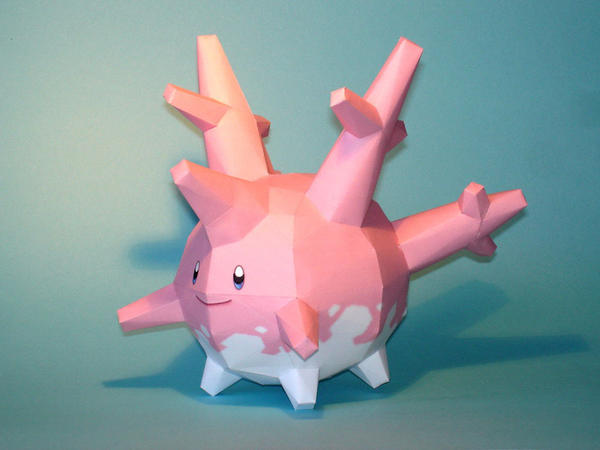 Corsola Papercraft by Skele-kitty