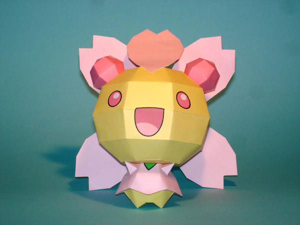 Cherrim Papercraft by Skele-kitty