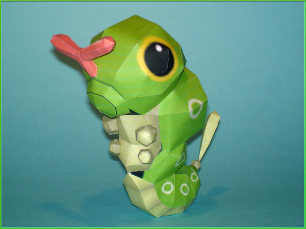 Caterpie Papercraft by Skele-kitty